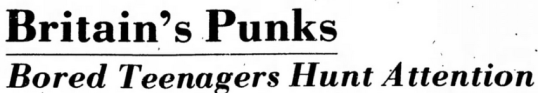 Britian's Punks