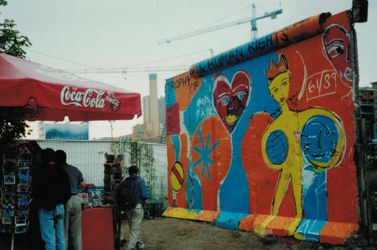 A piece of the Berlin Wall • September 1998 • photo by Latchkey Lisa