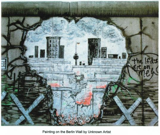Image Source: The Writings on the Wall: Peace at the Berlin Wall by Terry Tillman - 1990