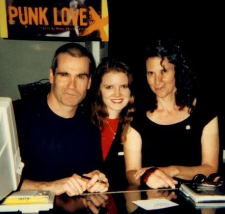 "Book Soup ""Punk Love"" Book Signing • West Hollywood, March 2007 L to R: Henry Rollins, Lisa M. McDougald, Susie J. Horgan"
